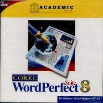 Corel Word Perfect Suite 8 - Academic Edition [CD-ROM] Windows NT / Wind... - $6.87