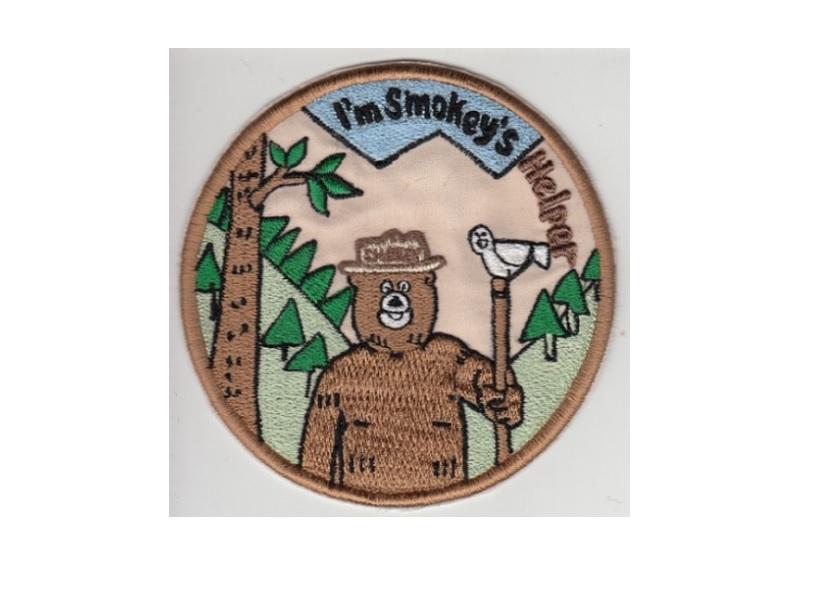Smokey the Bear USFS I'm Smokey's Helper US Forest Service Promo Patch 4.5in - $9.99