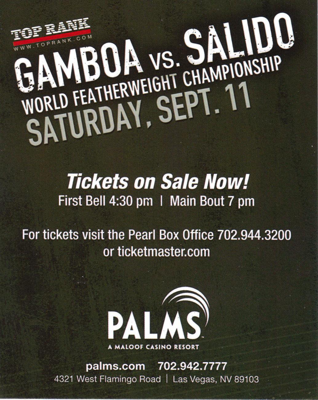 GAMBOA vs SALIDO + Notre Dame Champ  Mike Lee Sept. 11 2010