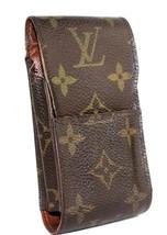 Auth Louis Vuitton monogram Canvas Leather Cigarette Case cigar case - $94.09