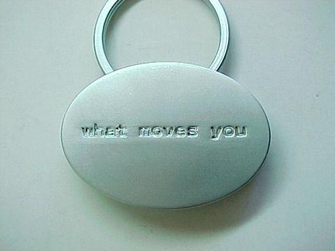 Scion Logo -What Moves You- Silvertone Metal Promo Keychain