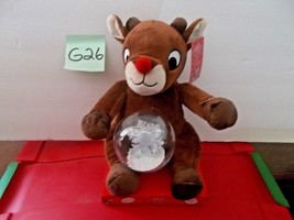 Rudolph the Red Nose Reindeer with light up snow globe - $29.99