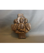 Maria Laach Abbey Cross Jesus with Disciples Vintage Mid Century - $24.90