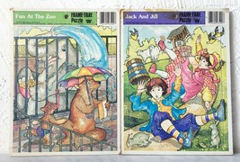 Vintage Whitman 1981 Fun At The Zoo Jack And Jill - 2 Frame Tray Puzzles  - $16.10