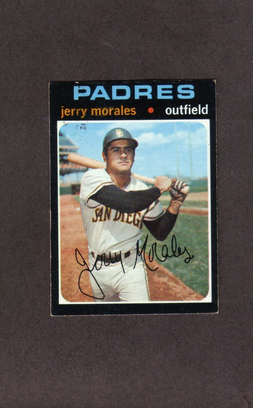 1971 Topps high # 696 Jerry Morales San Diego Padres