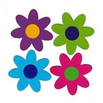 Refrigerator Magnet - Set of 4 Magnets - Bright Flowers - Decoration - 4... - $8.49