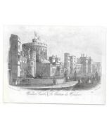 Windsor Castle Steel LIne Engraving 1851 J T Wood Views of London Print - $9.95