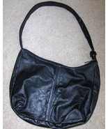 Leather Black Hobo Purse Large Handbag - $14.97