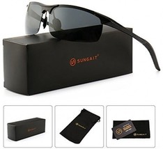 SUNGAIT Men's HD Polarized Sunglasses For Driving Fishing Cycling Running Metal - $52.98