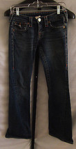 True Religion Becca Flared Faded Denim Blue Jeans Misses Size 26 (Size 2) - $38.61