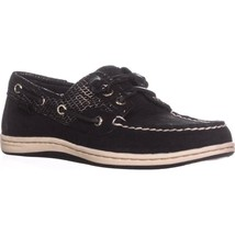 Sperry Top-Sider Songfish Boat Shoes, Black Snake, 6.5 US / 37 EU - $39.35