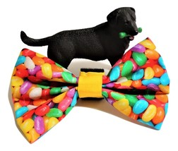 """Spring bows for dog or cat collars, 3"""" 4"""" or 5"""" long, Easter Jelly Bean bow tie - $5.25"""