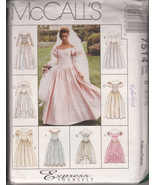 Misses' Express Yourself Bridal or Formal Gowns Pattern 8,10,12 McCall's 7514 - $5.99