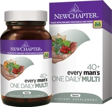 NEW CHAPTER EVERY MAN'S ONE DAILY 40 PLUS MULTIVITAMIN - 72 TABLETS - $25.00