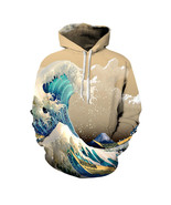 Waves Hoodies Men/Women 3d Sweatshirts Print Colorful Sea Waves - $22.00
