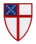 Episcopal Shield Embroidered Patch Anglican Church Iron-On Christian Emblem - $4.29