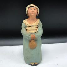 VINTAGE 1987 FIGURINE resin sculpture pilgrim doris williams heirloom Pr... - $22.77