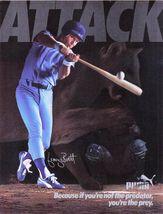 "1985 Puma Attack ""George Brett"" Vintage Photo Print Ad - $4.99"