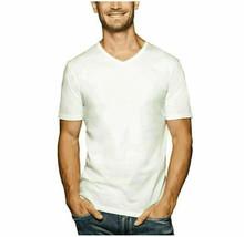 Buffalo David Bitton V-Neck Cotton Stretch T-Shirt White 3 Pack XL - $24.74