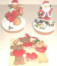 2 CHRISTMAS JARTOPPERS  FIGURINES  1 HANGING ORNAMENT - $5.99