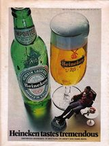 1972 Rare Heineken Tastes Tremendous Full Page Color Beer Ad - Near Mint - $4.99