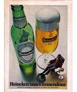 1972 Rare Heineken Tastes Tremendous Full Page Color Beer Ad - Near Mint - $4.99