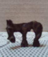 Vintage Miniature Pewter Old Cartoon Cowboy Horse Figurine  - $10.00