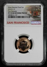 2018S LINCOLN CENT SILVER REVERSE PROOF SET NGC PF70 First Releases SKU C67
