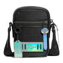 NWT COACH Terrain Crossbody Phone Bag Fabric Black Cyber Antique Nickel ... - $87.12