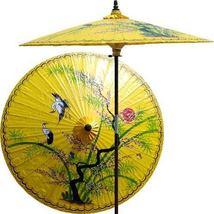 Asian Splendor (Sunburst Yellow) Outdoor Patio Umbrellas - $199.95