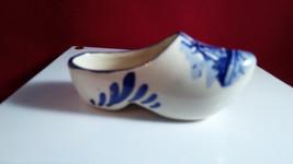Delfts Blue Dutch Pottery Miniature Shoe/ Ashtray Hand Painted Holland 3... - $7.92