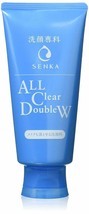 Shiseido Senka All Clear Double W Makeup Remover Face Wash 120g - $12.86