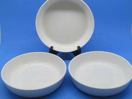 """Mikasa MN200 Urban Chic White 7.75"""" Coupe Soup Cereal Bowls Set Of 3 Bow... - $47.53"""