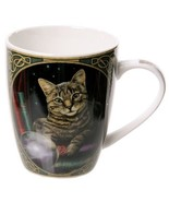 Cat Coffee Mug, Bone China Porcelain Cup with Printed Decorative Cat Design - $17.25