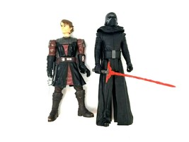 Lot of 2 Star Wars Action Figures with Swords One is a Talking Figure Used - £13.74 GBP