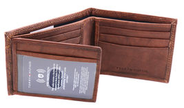 Tommy Hilfiger Men's Extra Capacity RFID Leather Traveler Wallet Tan 31TL240006 image 10