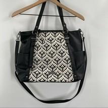 Dolce Vita- Black/White Pattern Medium Suede Crossbody Handbag Purse - $33.62