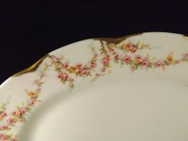 "Theodore Haviland New York Varenne Large Oval Platter 13""-Pink Roses & Gold - $24.70"