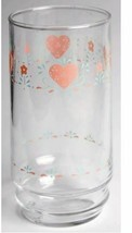 Corelle Forever Yours Heart Coolers Drinking Glasses 16 oz Tumbler Height: 5 7/8 - $9.49