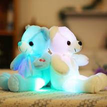 32cm Small LED Light Toys Plush Flashing Bear Toy Luminous Pillow Stuffe... - $19.18