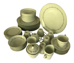 Vintage Mikasa Leaf Pattern Bone China - Set for 8,quantity 51 - $180.00