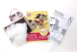 Create Your Own Felt Character Craft Kit Pony And Saddle - $8.81