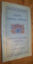 1911 ELK-McKEAN IOOF ODD FELLOWS PROGRAM 8TH MEETING SAINT ST MARYS PA - $9.89
