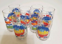 Lot Of 8 Diet Pepsi Soda Glasses Vintage You've Got The Right One Baby Uh Huh - $21.99
