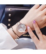 Ulzzang® Splicing Dial  Watches Simple Gold Stainless Steel Ladies Wrist... - $14.00