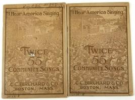 x2 Twice 55 Community Songs I Hear America Singing 1919 Music Lyrics Son... - $14.99