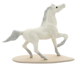 Hagen-Renaker Miniature Ceramic Horse Figurine Wild Arabian on Base White image 2