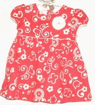 GIRLS PINK PRINTED DRESS SIZE 18 MOS. - $3.00