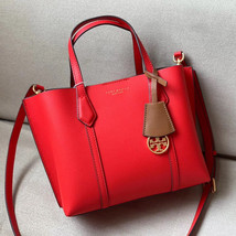 Tory Burch Perry Small Triple-Compartment Leather Tote - $245.00