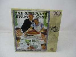 MasterPieces Norman Rockwell 1000 Puzzles Collection - Freedom from Want  - $15.83